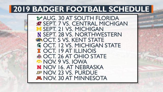 Wisconsin Football Releases 2019 Schedule