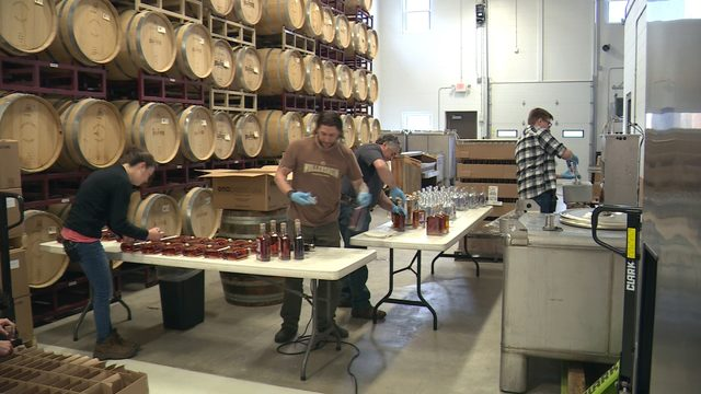 Wollersheim Winery & Distillery uses red, white, blue whiskey to donate green to local veterans