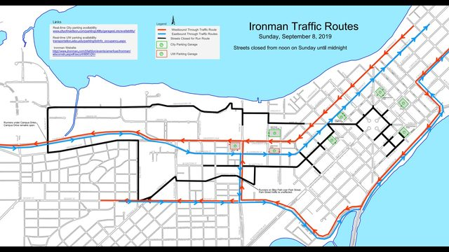 Expect road closures, delays Sunday for Ironman Wisconsin triathlon