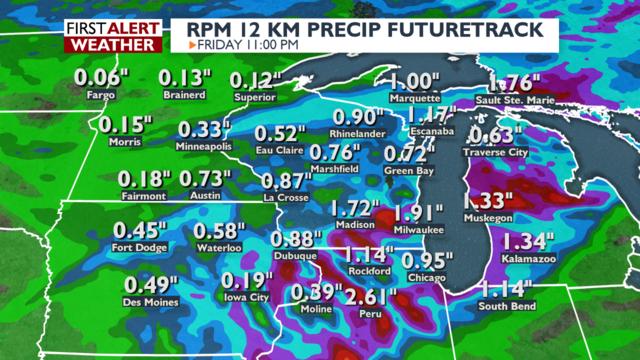 Heavy rain, flooding possible Friday