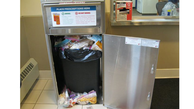 Madison police share photo of overflowing medical drop box