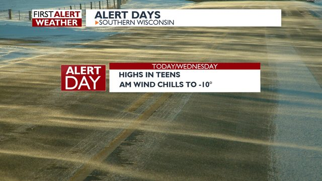 Cold snap arrives as wind chills fall below zero