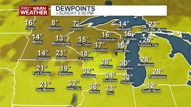 Dewpoints Map