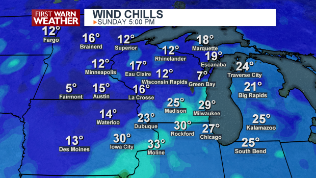 Wind Chills Map