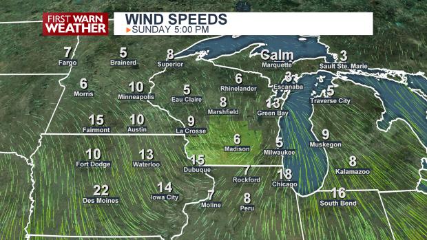 Wind Speeds Map