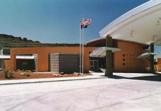AZ PORT OF ENTRY - Kingman, AZ. Motor vehicle inspection station and admnistrative offices.