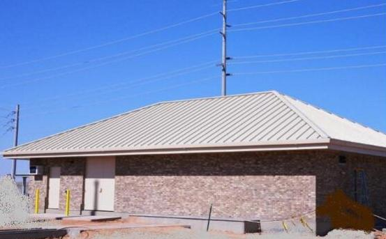 BOUSE SWITCHYARD - Parker, AZ. Control building for a 115 kilo volt substation.