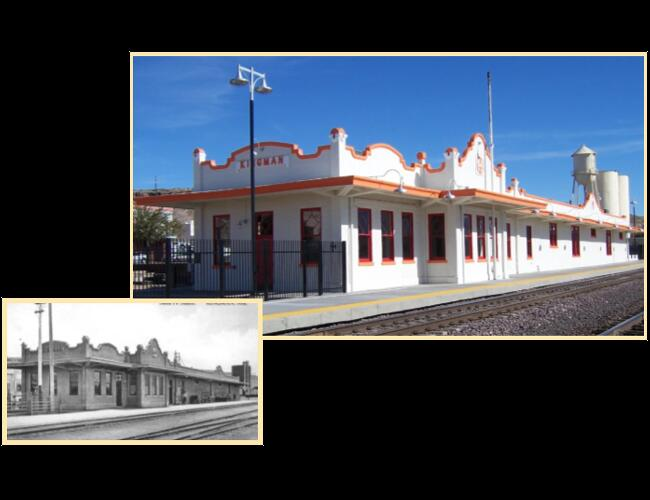 KINGMAN BNSF TRAIN DEPOT - Kingman, AZ. Complete rehabilitation of a train station originally built in 1907.