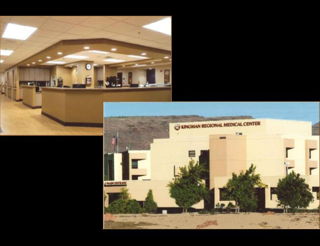 KINGMAN REGIONAL MEDICAL ADMINISTRATION AND SECOND FLOOR BUILD-OUT - Kingman, AZ. 1,923 sq ft build-out of existing shell including a new 20 bed medical-surgery wing and associated services.
