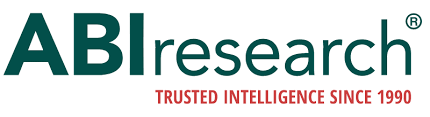 Logo that says, ABI research.  Trusted intelligence since 1990