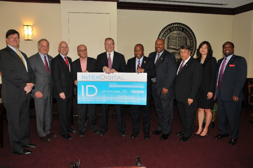 InterDigital and Delaware State University teams mark partnership in 2015