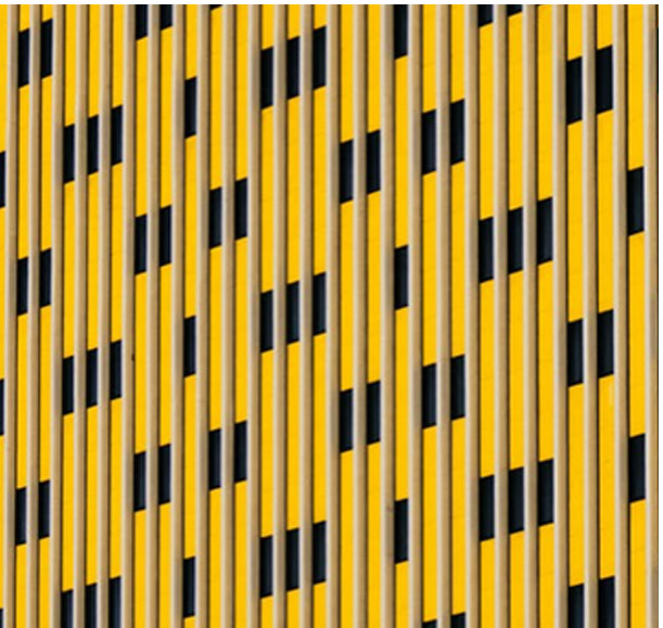 Abstract image, side of building in yellow