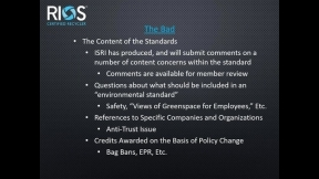 Webinar:  SWEEP Standards - A New Certification System for MRFs and Municipalities
