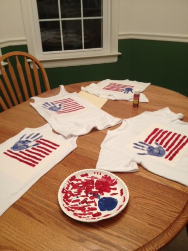 July 4th crafts Roundup- Flag TShirts