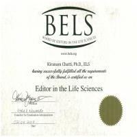 Kiranam Chatti - Certified Editor in the Life Sciences - Subject Matter Expert from Kolabtree