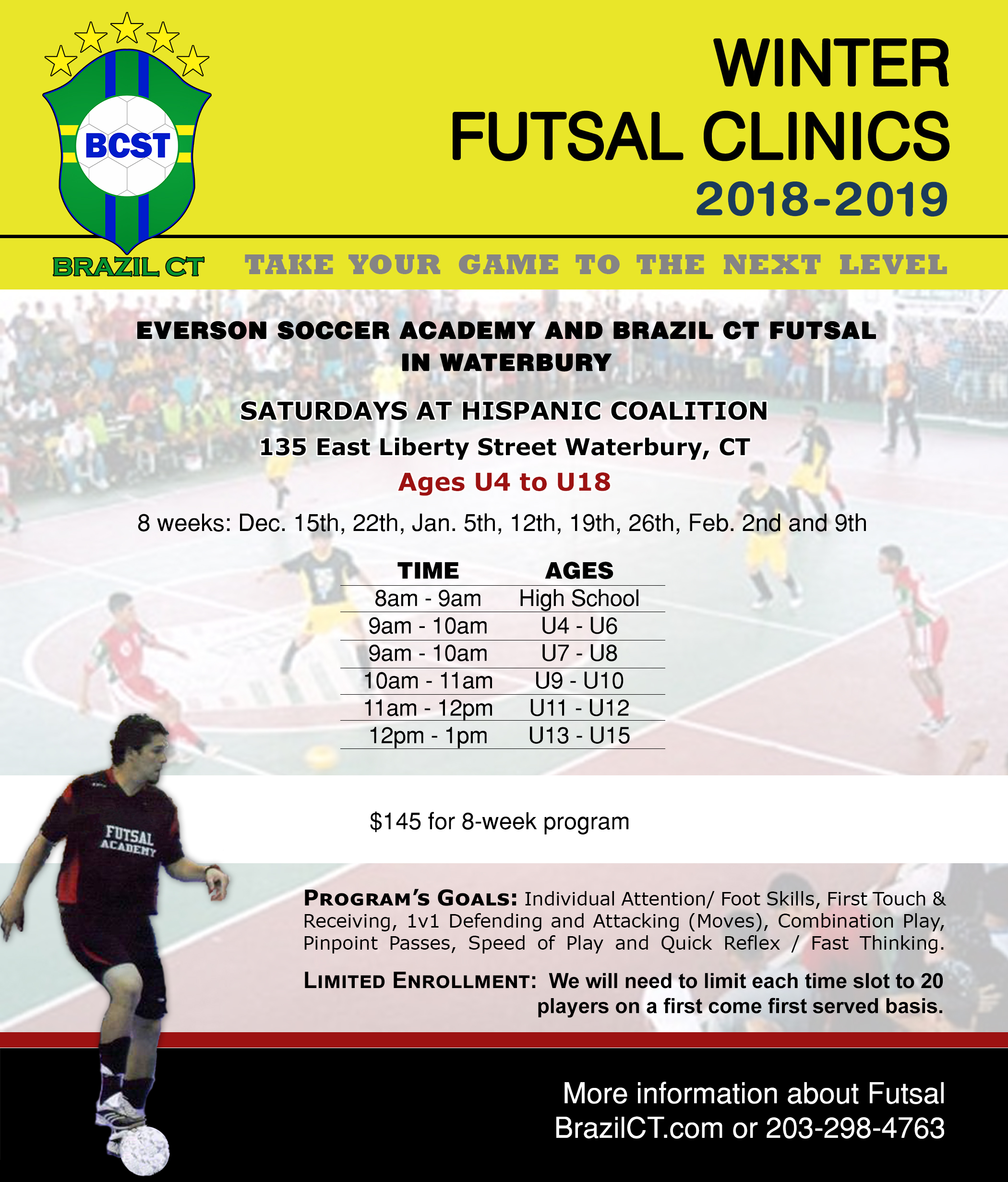 Futsal is a quick style of soccer popular in Brazil and in Europe. The  essence of the Brazilian style is the efficiency with split-second  improvisation 0db131b59ad25