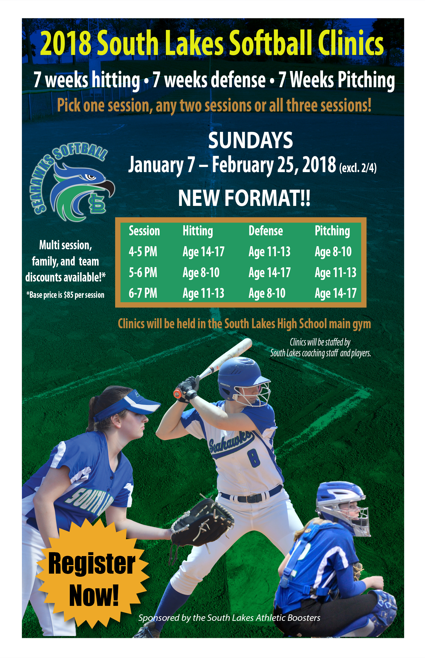 Softball Clinics Sunday Jan 7 through February 25