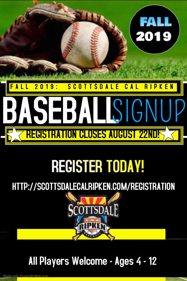 Scottsdale Cal Ripken Baseball League