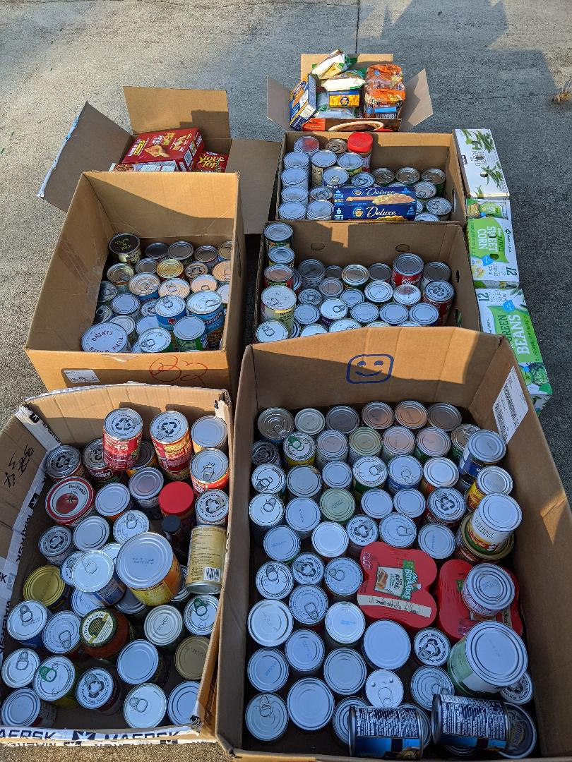 Items Collected for the ELOC Food Drive