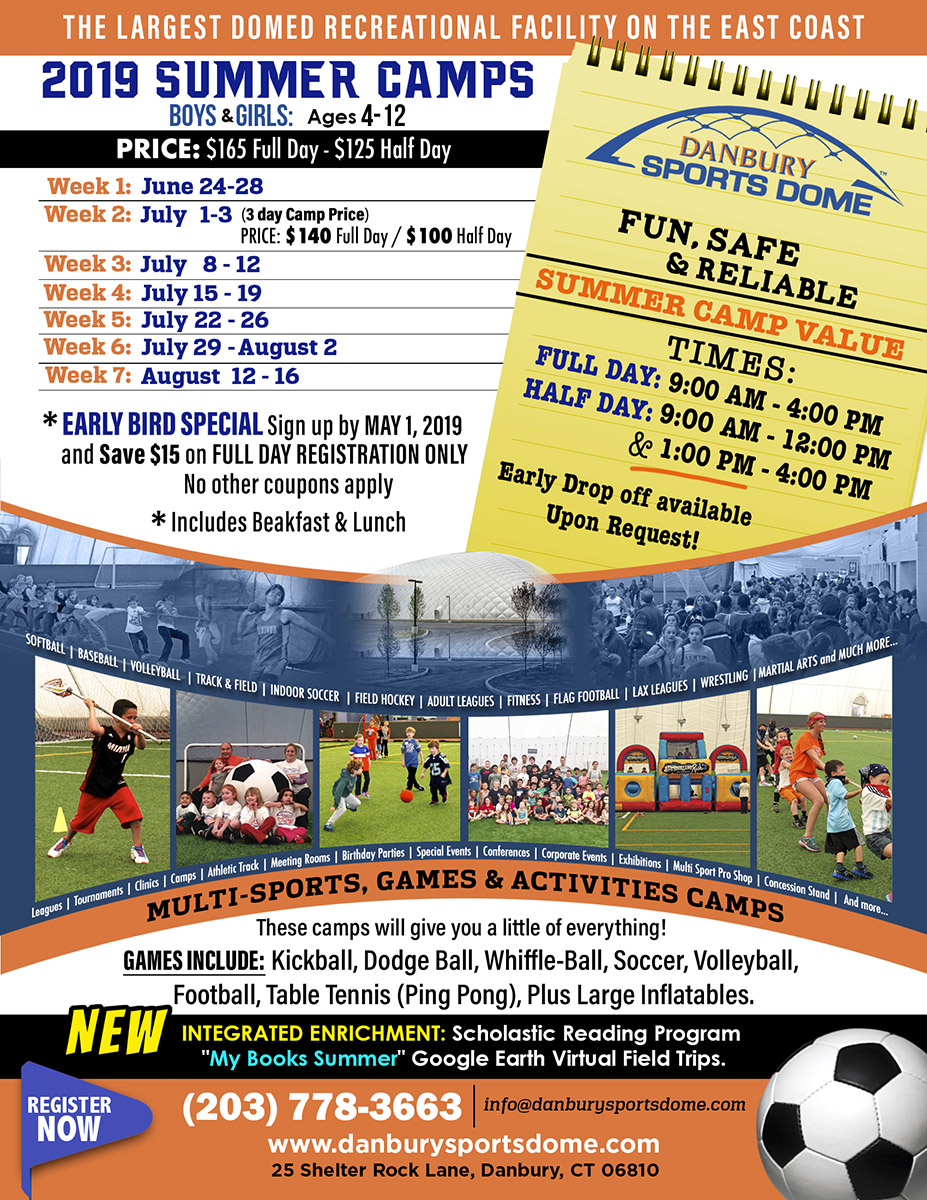 30908392a Camps & Summer Camps 2019 | Danbury Sports Dome