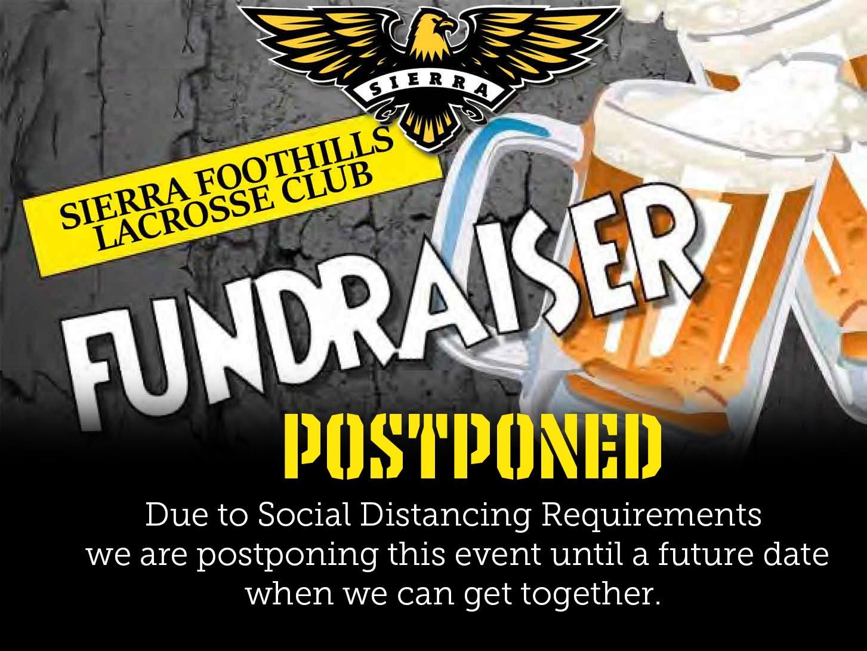 Fundraiser Postponed