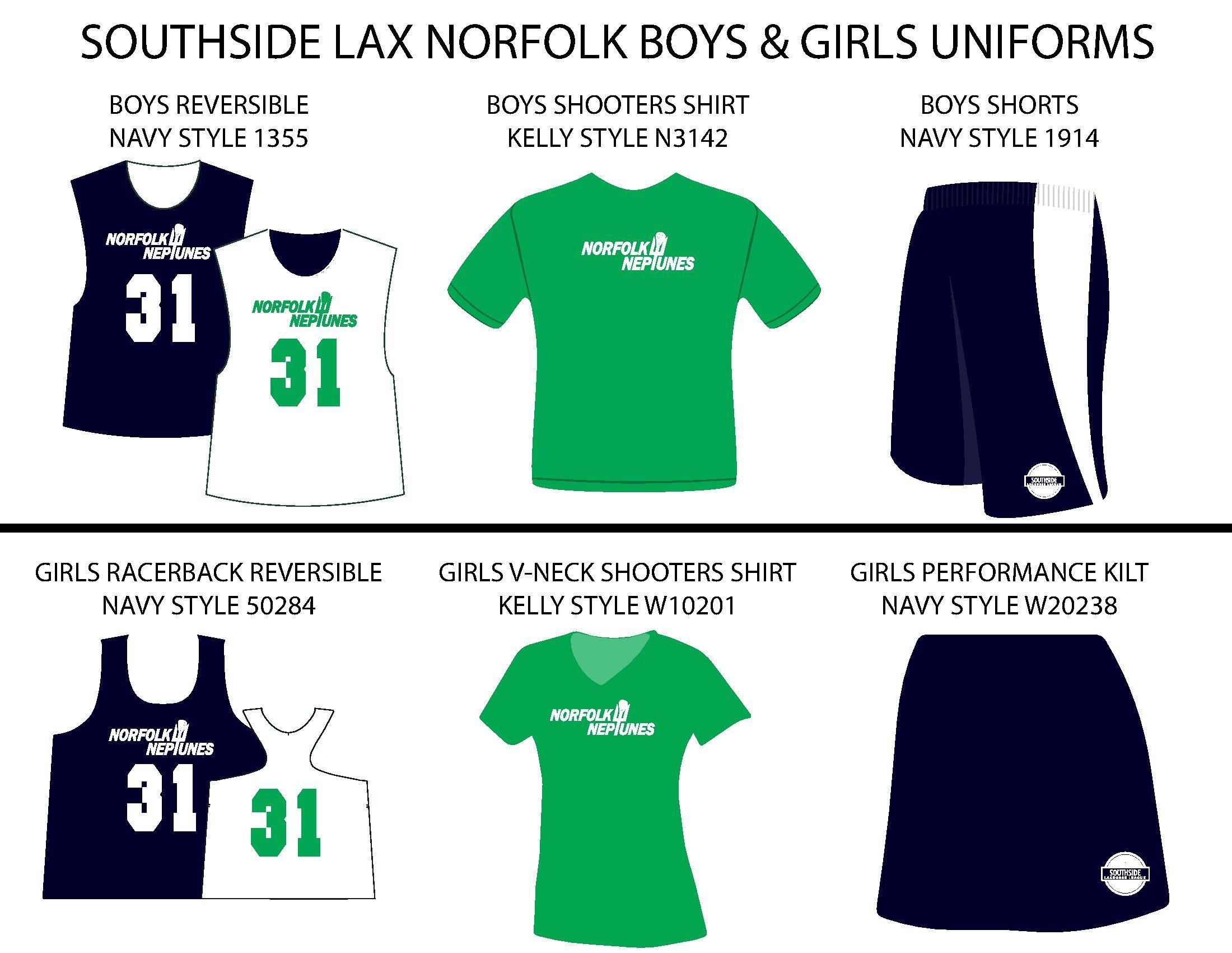 Southside Lacrosse Norfolk Uniforms
