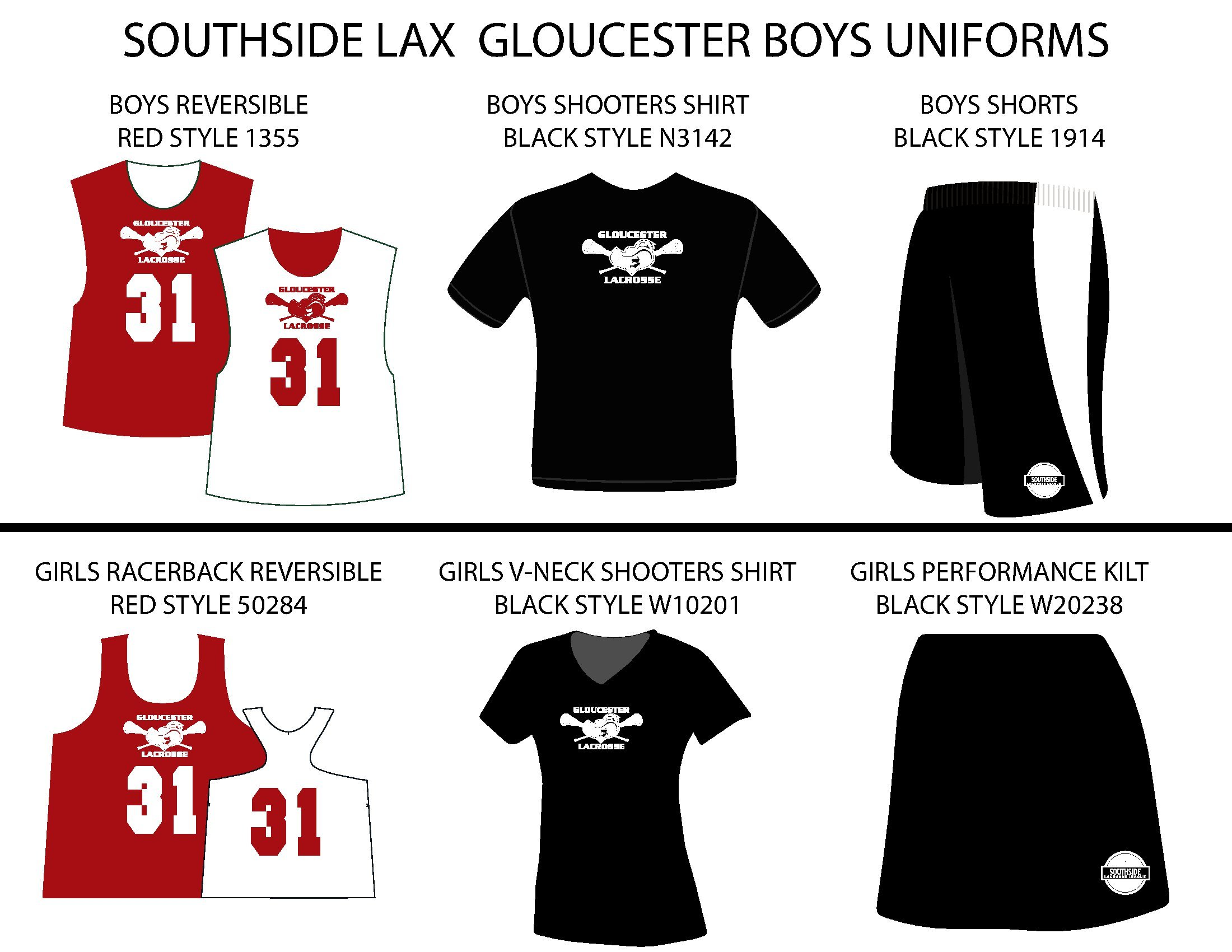 Southside Lacrosse Gloucester Uniforms