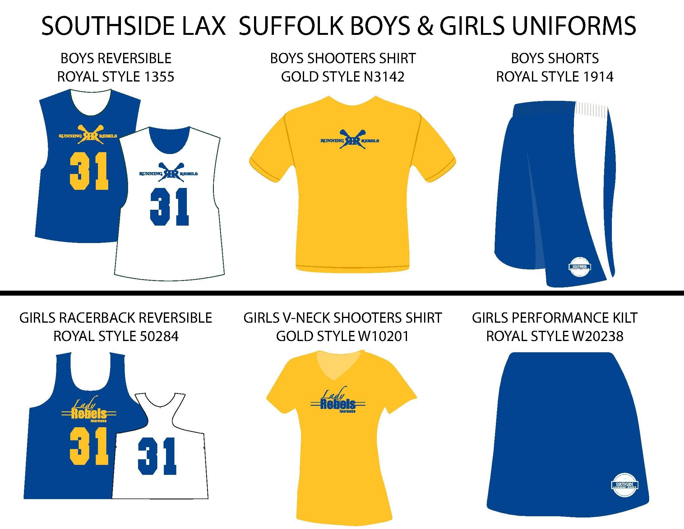 Southside Lacrosse Suffolk Uniforms