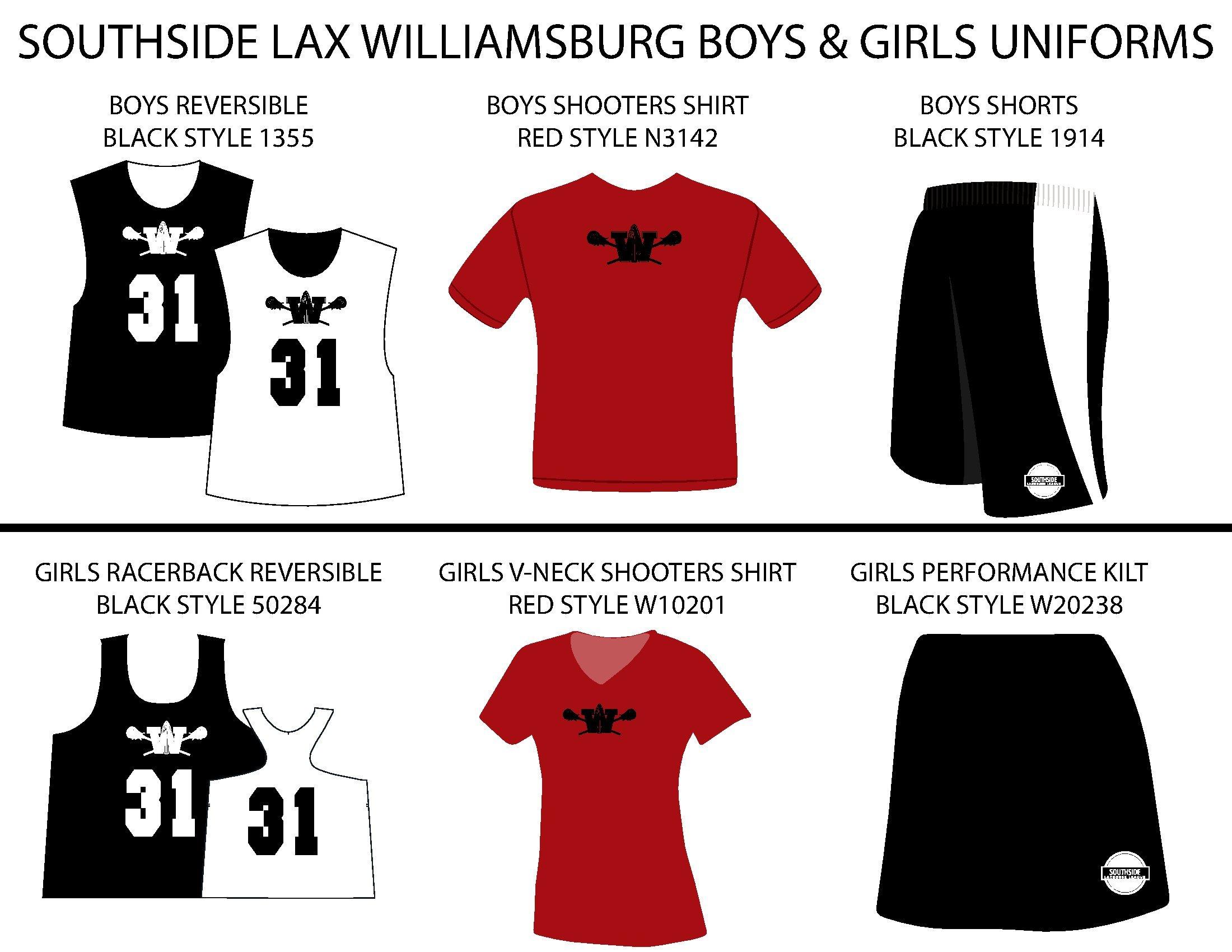 Southside Lacrosse Williamsburg Uniforms