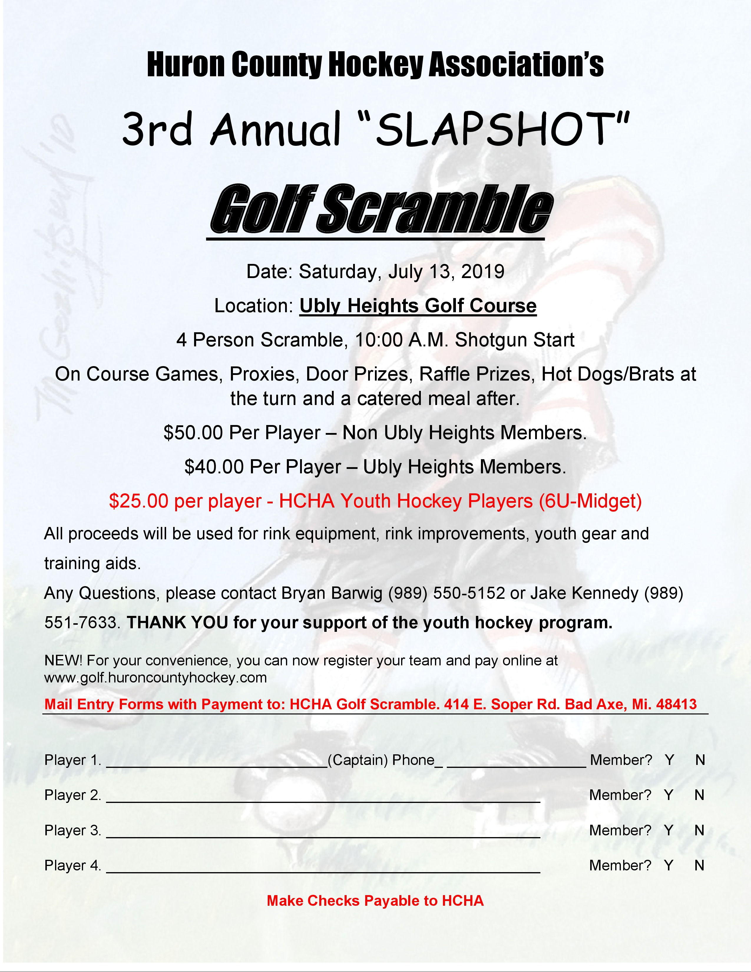 2019 Golf Scramble | Huron County Hockey Association