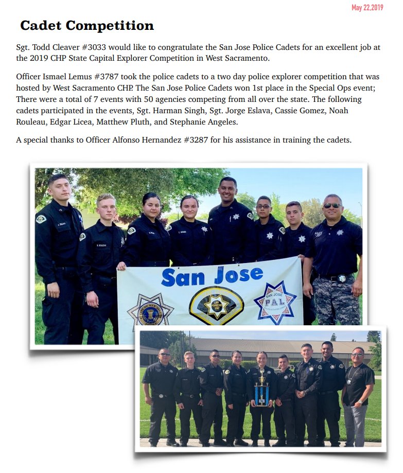 Cadets | San Jose Police Activities League