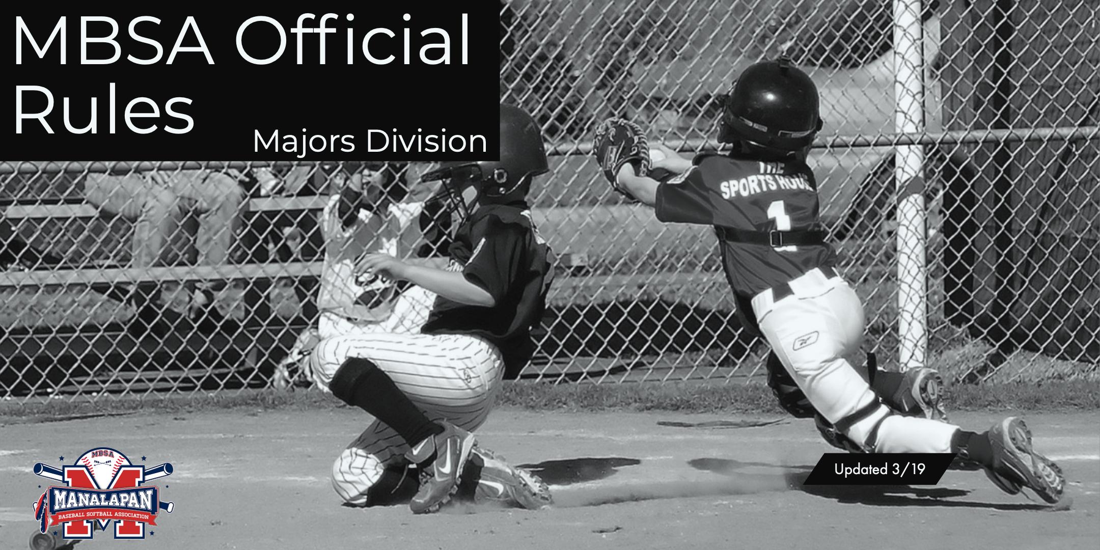 Majors Division | Manalapan Baseball and Softball Association