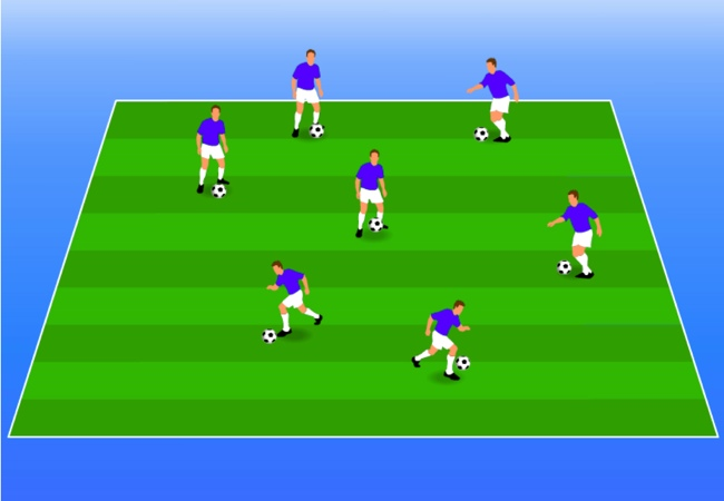 WSA Soccer Drills U5 Plus Body Part Game
