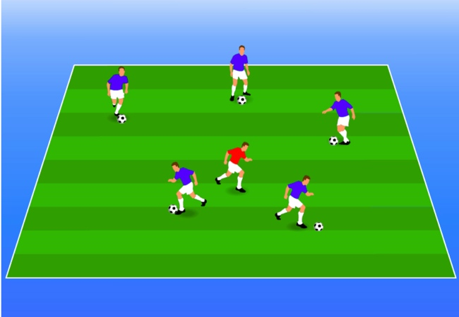WSA Soccer Drills U5 Plus Coach Tag Game
