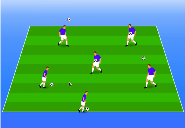 WSA Soccer Drills U5 Plus Control of ball game