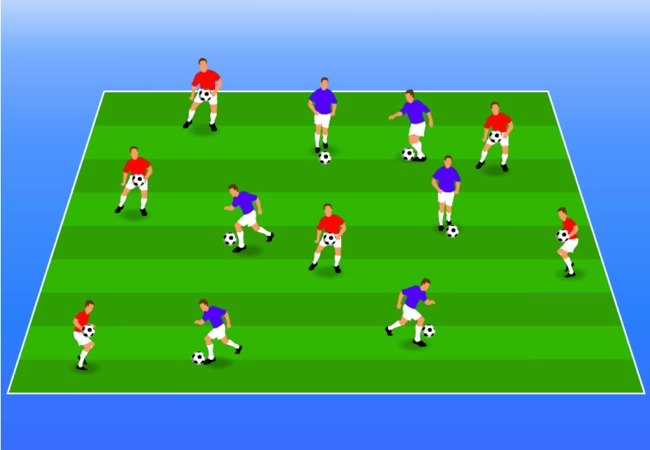WSA Soccer Drills U5 Plus Gates Game