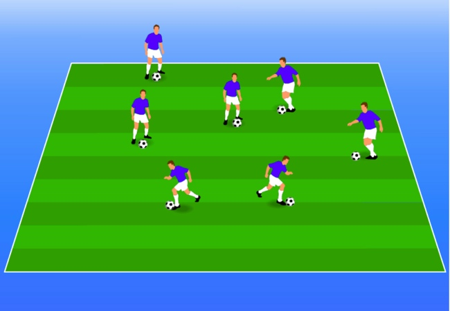 WSA Soccer Drills U5 Plus Knee Tag