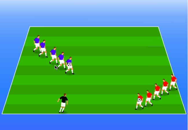 WSA Soccer Drills U5 Plus Ladder Game