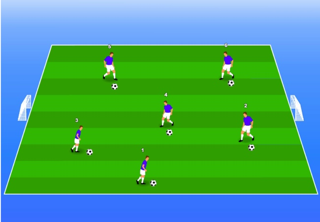 WSA Soccer Drills U5 Plus Shooting numbers game