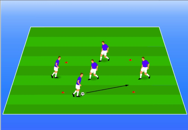 WSA Soccer Drills U8 Plus 4 v 4 Keep Away
