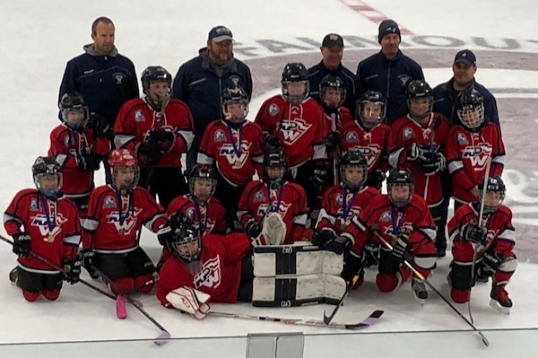 The King Philip Walpole Youth Hockey U10B team won the 2019 Falmouth Fall Classic Hockey Tournament