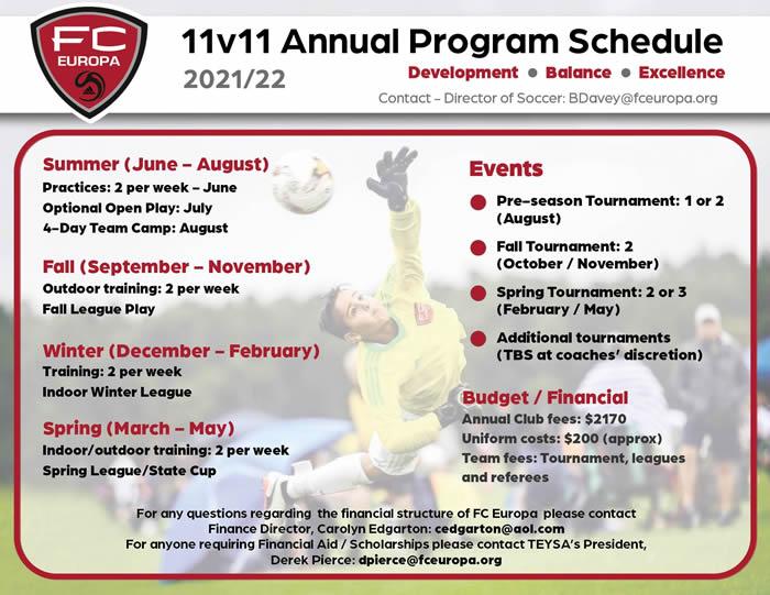 11v11 Program 2021