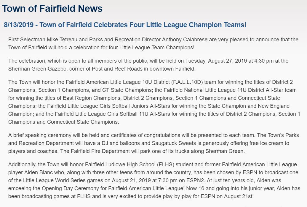 Fairfield National Little League