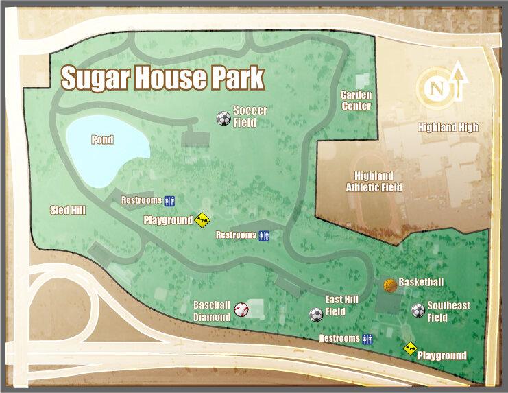 Sugar House Park Map