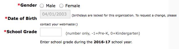 Registration Age Data
