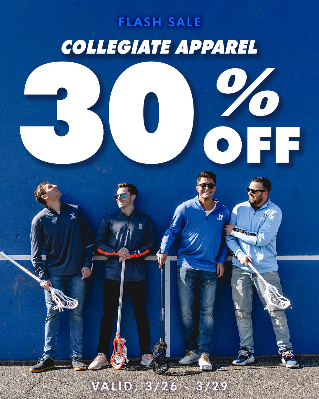 30% Off Collegiate Apparel