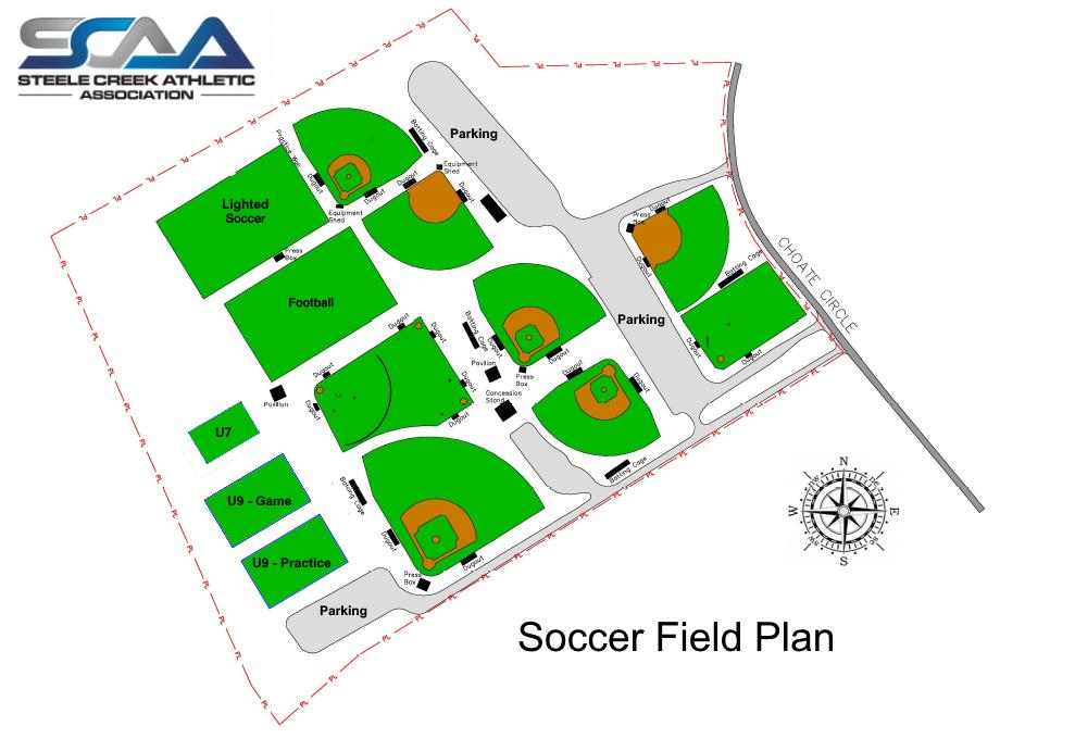 SCAA Soccer Field Plan