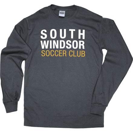 Block Charcoal Grey Long Sleeve T-Shirt