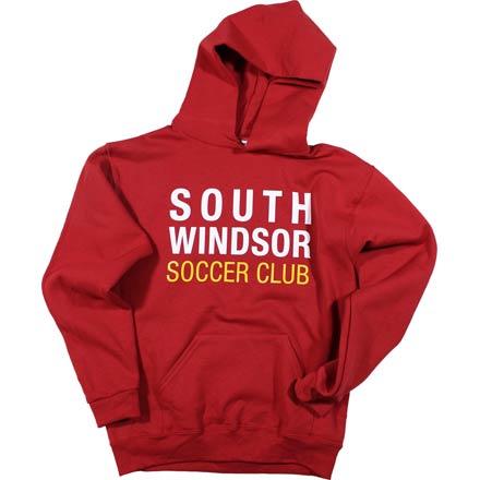 Block Cardinal Hooded Sweatshirt