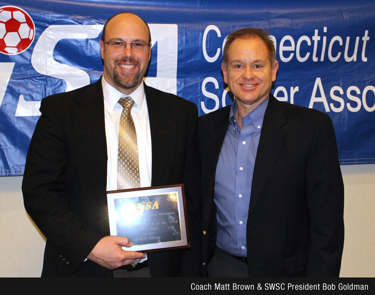 Coach Matt Brown and SWSC President Bob Goldman